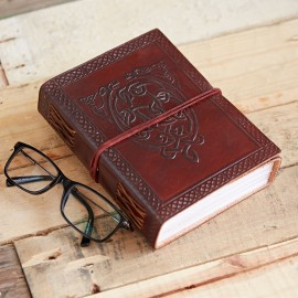 Indra Celtic Serpent Leather Journal