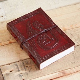 Indra Celtic Sitting Dragon Leather Journal
