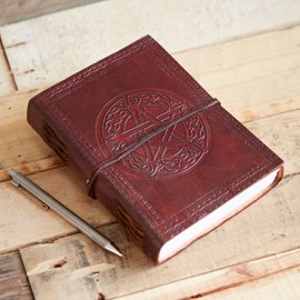 Indra Celtic Star Leather Journal