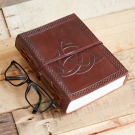 Indra Celtic Trinity Knot Leather Journal