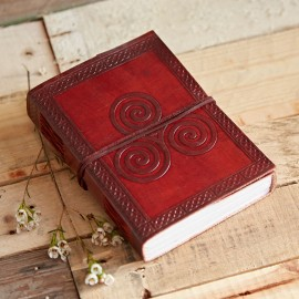 Indra Celtic Triskelion Leather Journal