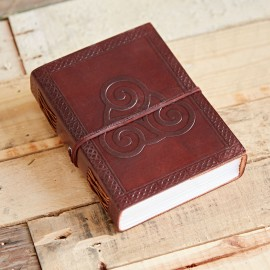 Indra Celtic Triskelion Symbol Leather Journal
