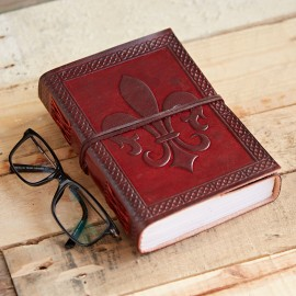 Indra Fleur De Lis Leather Journal