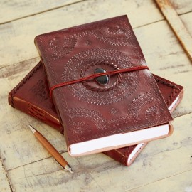 Indra Hefty Embossed Stoned Journal
