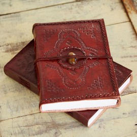 Indra Hefty Stitched Emboss Stone Journal