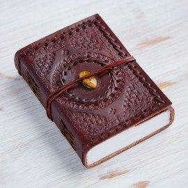 Indra Medium Stitched Emboss Stone Journal