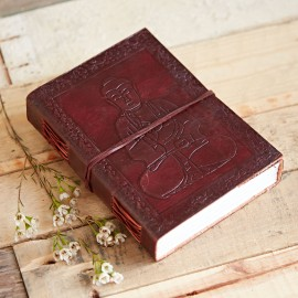 Indra Sitting Buddha Leather Journal