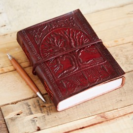 Indra Celtic Tree Of Life Leather Journal