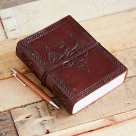 Indra Celtic Winged Dragon Leather Journal