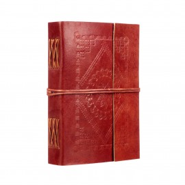 Large Embossed Leather Journal