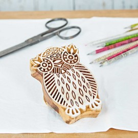 Owl Design Wooden Block