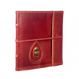 Large Stitched and Stoned Leather Album
