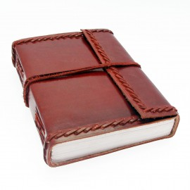 Large Stitched Leather Journal