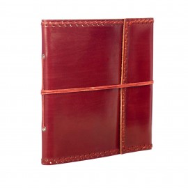 Large Stitched Leather Album