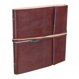 Large 3 String Leather Photo Album Chocolate