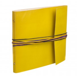 Large 3 String Leather Photo Album Yellow