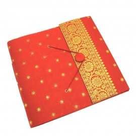 Large Sari Photo Album-Red
