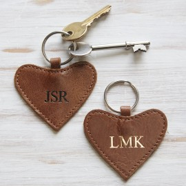 Leather Heart Keyring - Pre-Personalised