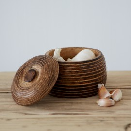 Small Makula Mango Wood Bowl With Lid
