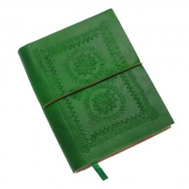 Medium Green Embossed Notebook
