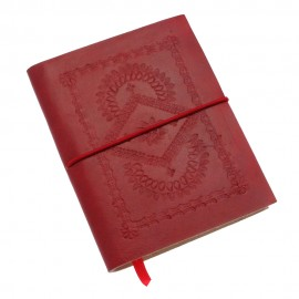Medium Red Embossed Notebook