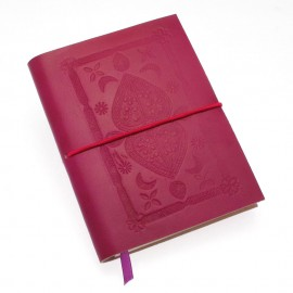 Medium Fuchsia Embossed Notebook