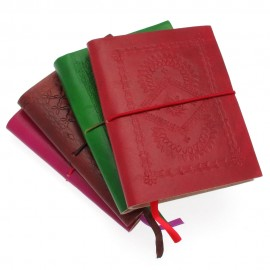 Medium Coloured Embossed Notebook