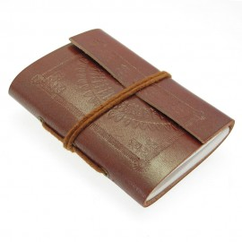 Mini Embossed Leather Notebook