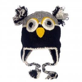 Natural Owl Woollen Animal Hat