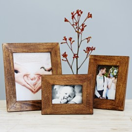 Natural Wood Rustic Photo Frame