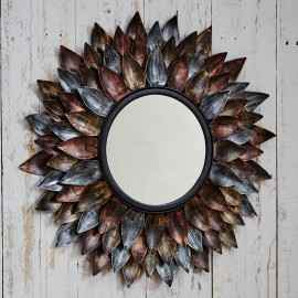 Neha Iron Leaf Mirror