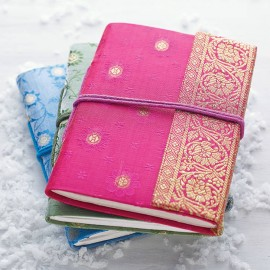 Medium Sari Fabric Notebooks