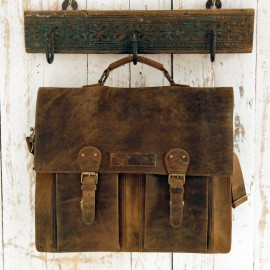 Buffalo Leather Briefcase - Reworked