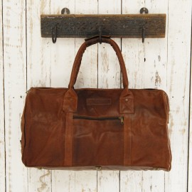 Leather Duffle Bag - Reworked