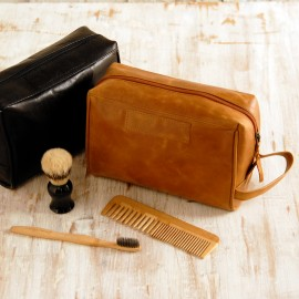 Leather Wash Bag - Reworked