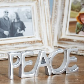 Recycled Stainless Steel Peace Sign