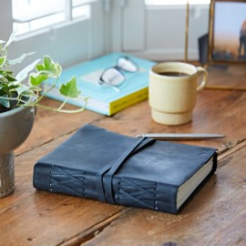 Personalised Black Buffalo Leather Journal