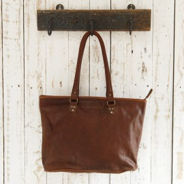 Large Leather Shopping Bag - Reworked