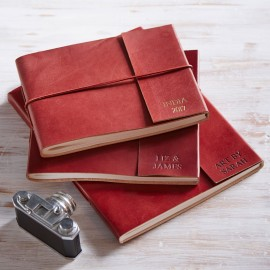 Personalised Fair Trade Leather Photo Albums