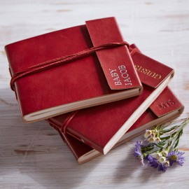 Personalised Fair Trade Small Leather Photo Album