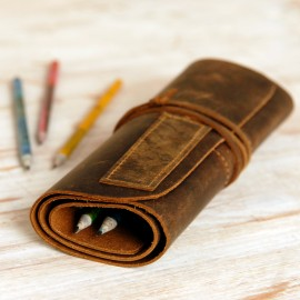 Buffalo Leather Pencil Case - Reworked