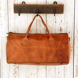 Leather Duffle Style Gym Bag - Reworked