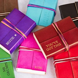 Personalised 3-String Coloured Leather Journal