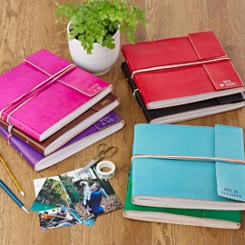 Personalised 3 String Leather Photo Albums