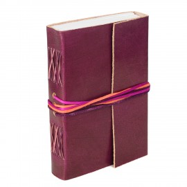 Leather 3-String Plum Leather Journal