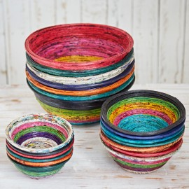 Recycled Newspaper Bowls