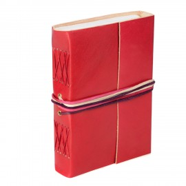Leather 3-String Red Leather Journal