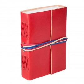 Leather 3-String Red Leather Journal RWB