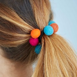 Felt 9 Ball Hair Band / Bobble (x6)