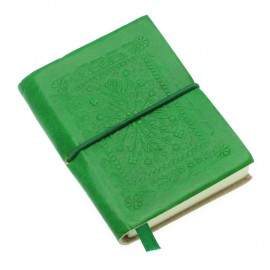 Mini Emerald Green Leather Notebook